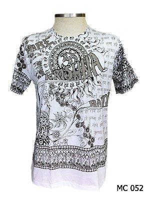 Camiseta Indiana Masculina Krishina Branca
