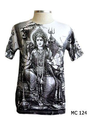Camiseta Indiana Masculina Deuses Krishna