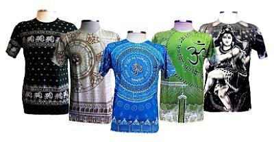 Kit 5 Camisetas Indianas Masculinas Várias Estampas