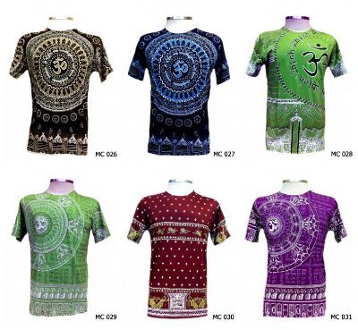 Lote/Kit 50 Camisetas Indianas Masculinas Atacado - Várias Estampas