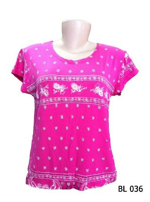 Camiseta Indiana Feminina Estampada Pink