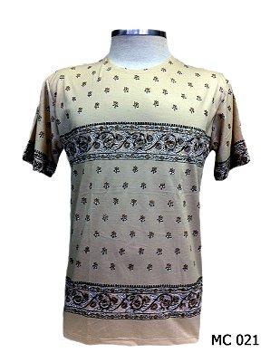 Camiseta Indiana Masculina Mandala Bege