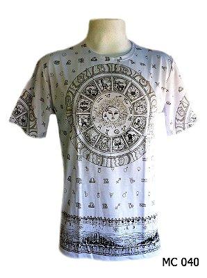 Camiseta Indiana Masculina Zodíaco Branca
