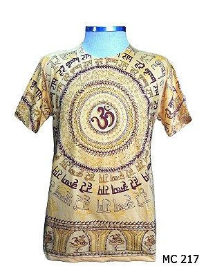 Camiseta Indiana Masculina Mandala Mantra Om