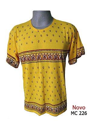 Camiseta Indiana Masculina Étnica Amarela
