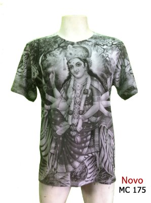 Camiseta Indiana Masculina Lakshmi Cinza