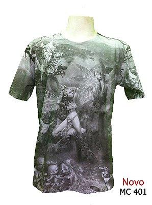 Camiseta Indiana Masculina Fada Cinza