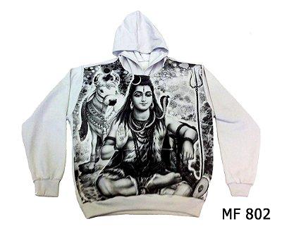 Moletom Indiano Flanelado Com Capuz Unissex Shiva