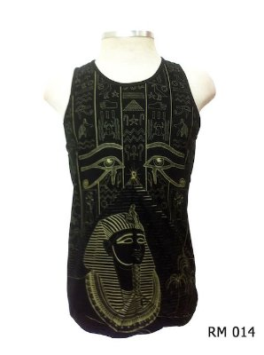 Regata Indiana Masculina Egito Olho de Hórus Preta