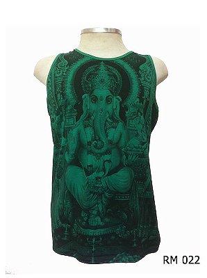 Regata Indiana Masculina Ganesha Verde
