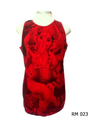 Regata Indiana Masculina Ganesha Vermelha