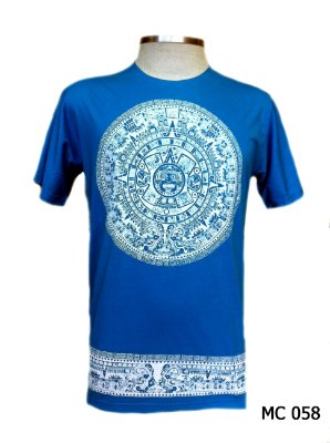 Camiseta Indiana Masculina Mandala Asteca Cores