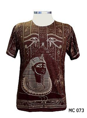 Camiseta Indiana Masculina Egito Olho de Hórus Marrom