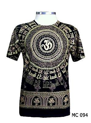 Camiseta Indiana Masculina Mantra Om Marrom
