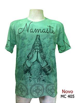Camiseta Indiana Masculina Namastê Verde