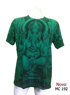 Camiseta Indiana Masculina Ganesha Verde