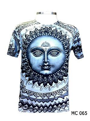 Camiseta Indiana Masculina Sol Súria Azul