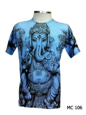 Camiseta Indiana Masculina Ganesha Azul Claro