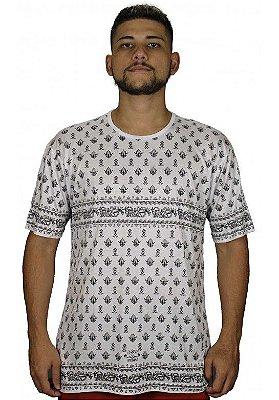 Camiseta Indiana Unissex Pé de Galinha Branca