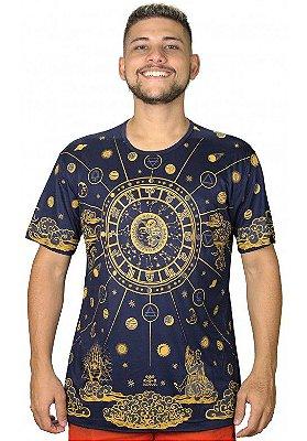 Camiseta Indiana Unissex Zodíaco Azul