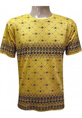 Camiseta Indiana Unissex Orquídeas Amarela