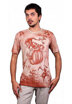 Camiseta Indiana Unissex Gnomo Abóbora