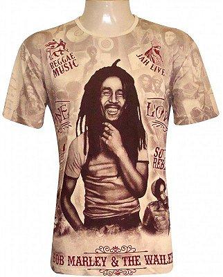 Camiseta Indiana Unissex Bob Marley e The Wailers