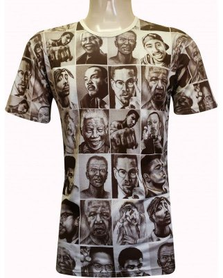 Camiseta Indiana Unissex Cultura Negra Fotos Revolucionários