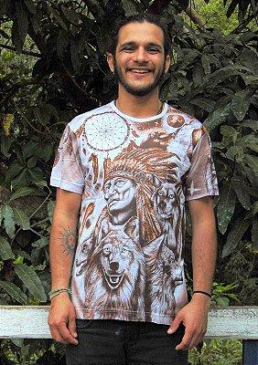 Camiseta Indiana Unissex Xamânica Cacique