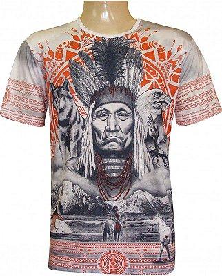 Camiseta Indiana Unissex Xamânica Índio Americano