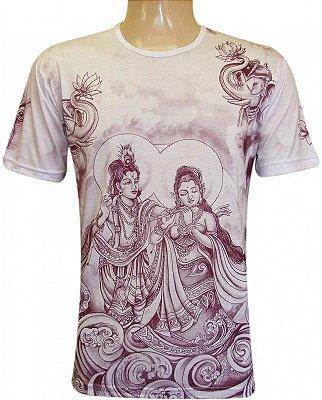 Camiseta Indiana Unissex Krishna e Radha