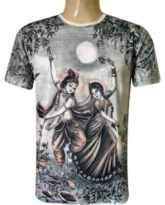 Camiseta Indiana Unissex Krishna e Radha Luar