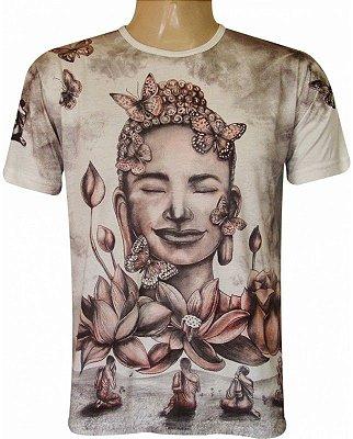 Camiseta Indiana Unissex Buda Siddharta