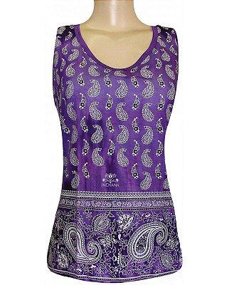 Regata Indiana Feminina Shanti Tie-Dye Roxa