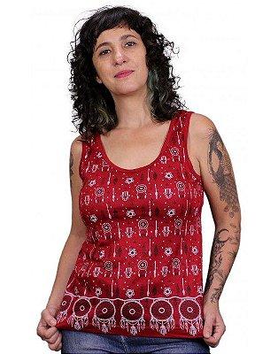 Regata Indiana Feminina Filtro dos Sonhos Vermelha