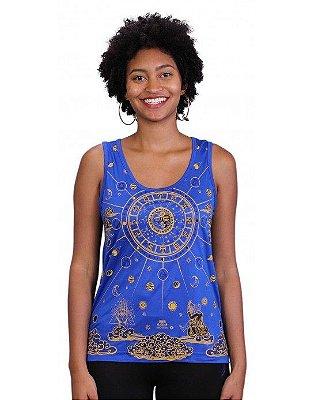 Regata Indiana Feminina Zodíaco Azul