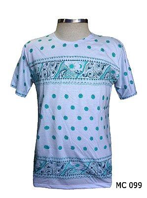 Camiseta Indiana Masculina Ondas Verde