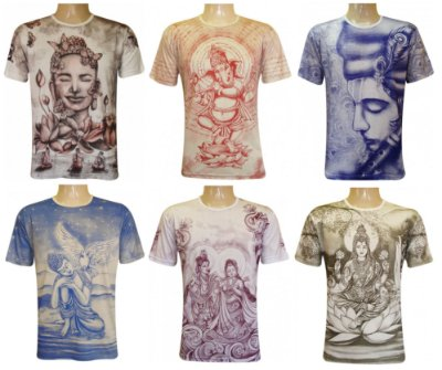 Kit/Lote 20 Camisetas Indianas Unissex Deuses Sortidas