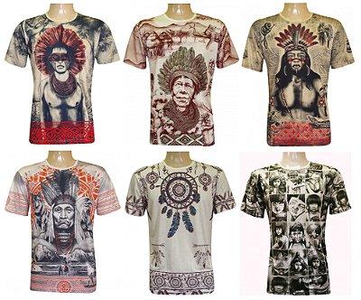 Kit/Lote 20 Camisetas Indianas Unissex Xamânicas Sortidas