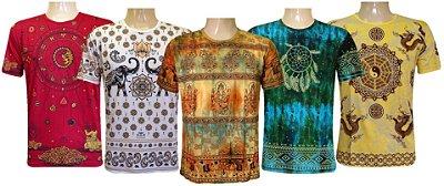 Kit 5 Camisetas Indianas Unissex Tradicionais Sortidas