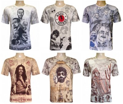 Kit 10 Camisetas Indianas Unissex Personalidades Sortidas