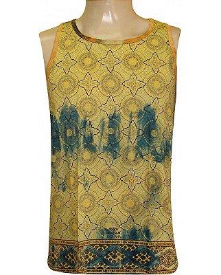 Regata Indiana Masculina Star Tie-Dye Amarela