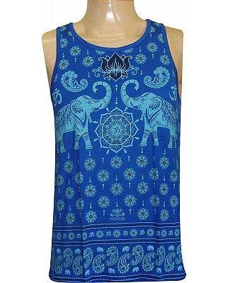 Regata Indiana Masculina Elefantes Azul