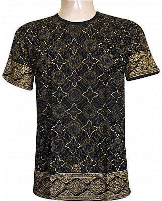 Camiseta Indiana Unissex Extra Grande Star Preta