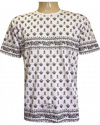 Camiseta Indiana Unissex Extra Grande Branca
