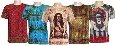Kit 5 Camisetas Indianas Unissex Extra Grandes Sortidas