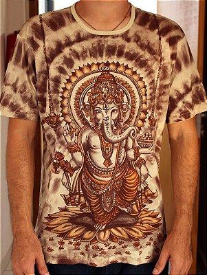 Camiseta Indiana Unissex Ganesha Areia
