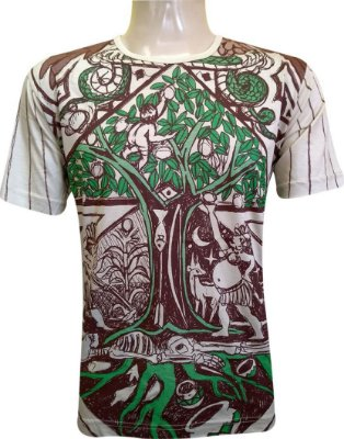 Camiseta Indiana Unissex Árvore da Vida Areia