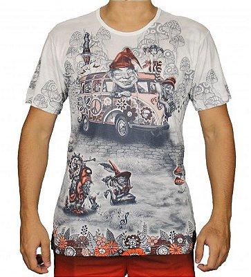 Camiseta Indiana Unissex Gnomo Kombi Branca
