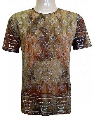 Camiseta Indiana Unissex Tie Dye Caqui Grade
